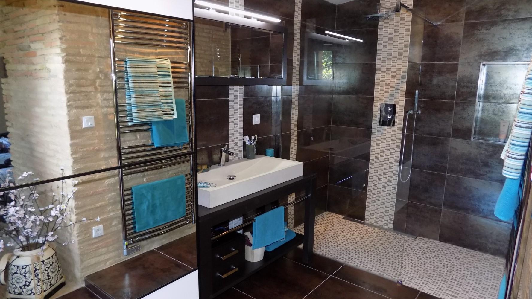 Renovation Salle de bain Douche italienne - Artisan Maçon ...